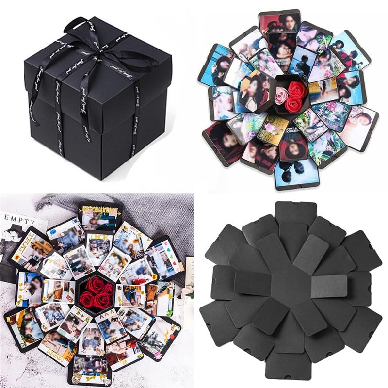 Surprise Explosion Box DIY Memory Scrapbook Photo Album For Valentine Day Anniversary Birthday Wedding Gift
