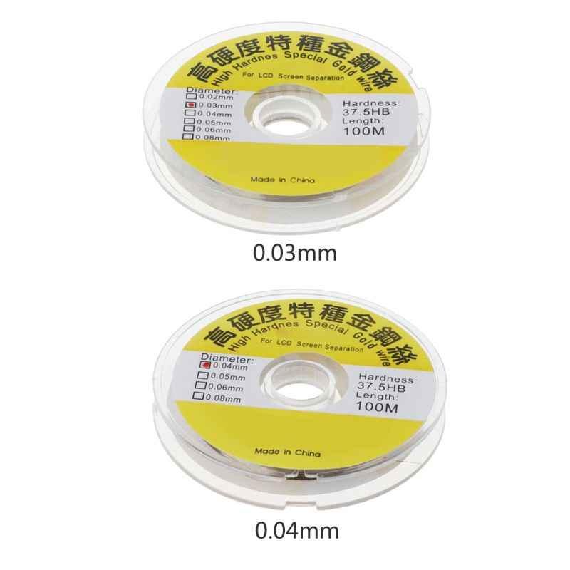 100 متر سبائك الذهب سلك الموليبدينوم خط القطع شاشة الكريستال السائل شاشة فاصل إصلاح