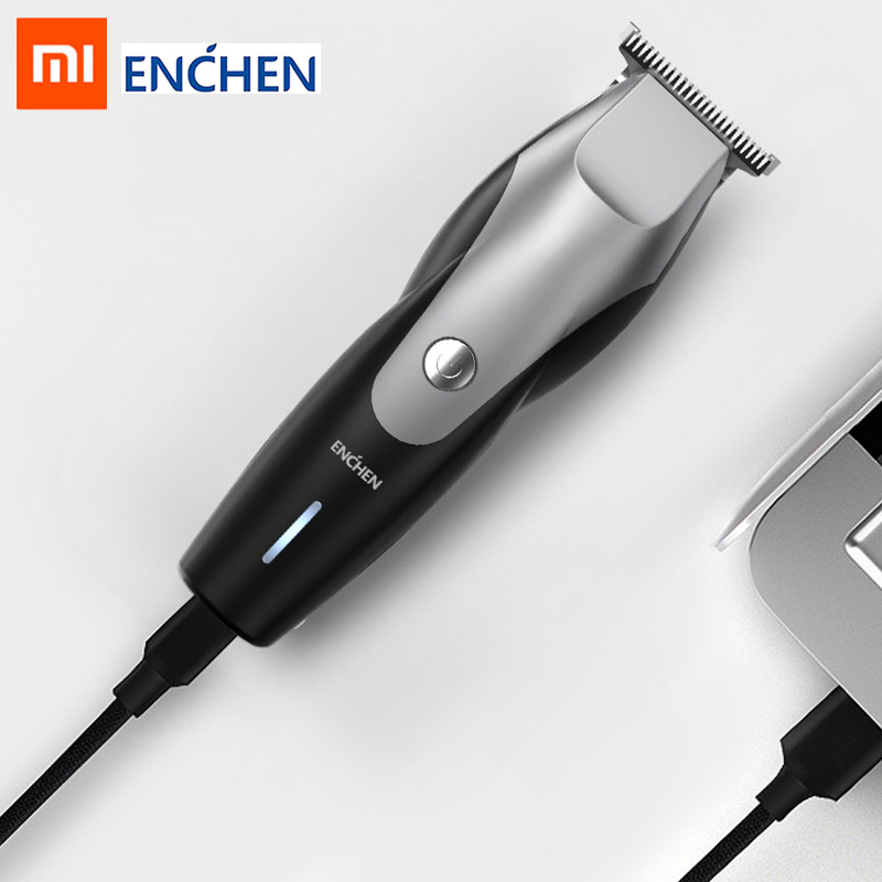 XIAOMI Hair Clipper ENCHEN Usb Charging Low Noise Hair Trimmer Men's Beard Trimmer Hairdresser Hair Clipper Modeling Tool 4