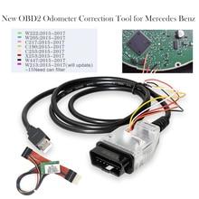 Strumento di correzione chilometraggio OBD2 OBD 2 correzione contachilometri per Mercedes per Benz MB 2015 2018 regolazione chilometraggio con filtro CAN
