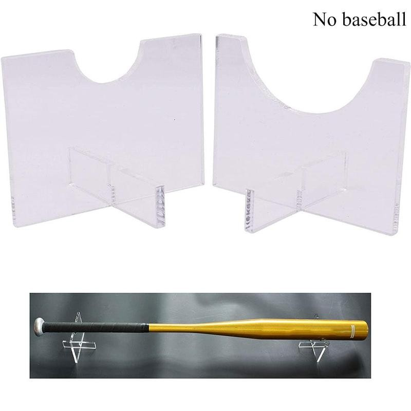 Shelf Storage-Bracket Baseball Bat Bat-Stands Display-Holder Acrylic Transparent 1pair