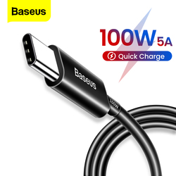 Baseus 100W Type C to Type C Cable Quick Charge 3.0 USB C Cable Fast Charging Cable for Samsung S20 Xiaomi mi 10 5A Type-C Cable