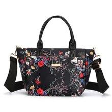 Female Handbags Tote Messenger-Bag Crossbody-Bag Printing Nylon High-Quality Women's
