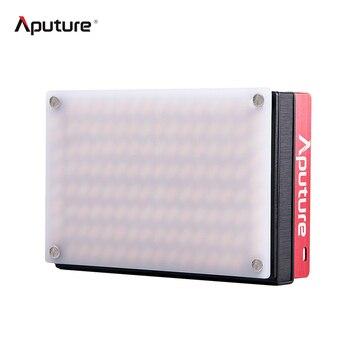Aputure Mini LED Video Light 2800K-6500K Double Color Temperature CRI 95+ 128pcs LED Beads Adjustable Brightness