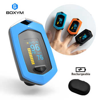BOXYM Medical Rechargeable Finger Pulse Oximeter Digital Oximetro De Dedo SpO2 PR OLED CE Pulsioximetro Heart Rate Monitor - DISCOUNT ITEM  47 OFF All Category