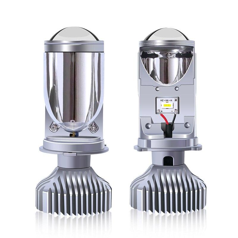 Y6S car led headlights three-color lens fisheye light H4 far and near one super bright headlight 3000K 4300K 6000K 8000Lm