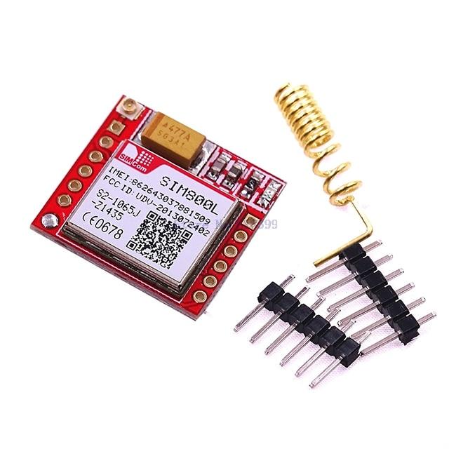 A5-- Smallest SIM800L GPRS GSM Module MicroSIM Card Core BOard Quad-band TTL Serial Port