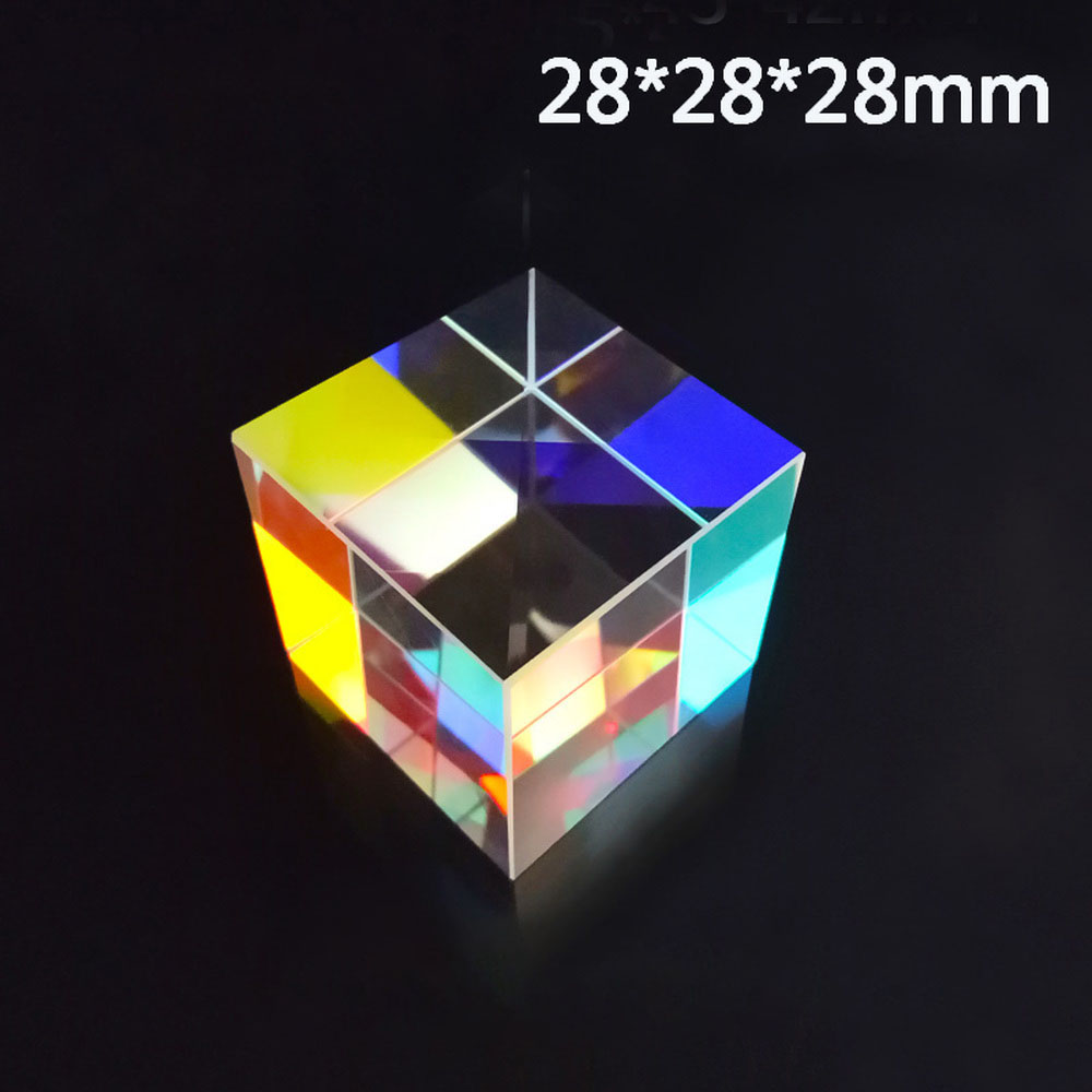 28*28*28mm Optical Prism Rainbow Cube Of Light Color Large A Gift Children's Science Experiment