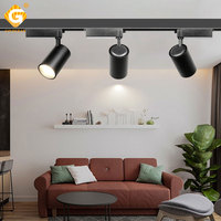 Modern 35W COB LED Track Light 2 3 4 Wire Rail Lighting Systems Aluminum Ceiling Spotlight Kitchen Shop Corridor