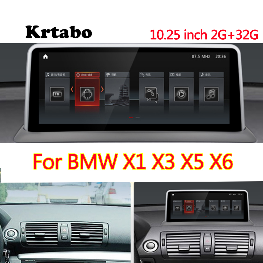 Car radio Android multimedia player <font><b>For</b></font> <font><b>BMW</b></font> X1 X3 X5 <font><b>X6</b></font> 10.25 inch touch screen <font><b>GPS</b></font> Carplay image