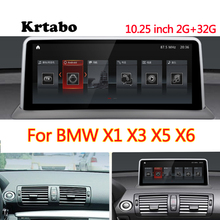 Krtabo Navigation Bluetooth Wifi Für BMW X1 X3 X5 X6 Auto Radio Android Multimedia Player 10,25 Inch HD Bildschirm GPS