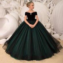 Robe longue en Tulle pour filles, élégante, verte, pour bal, remise de diplôme, demoiselle d'honneur, mariage, pour adolescentes, nouvelle collection 2021