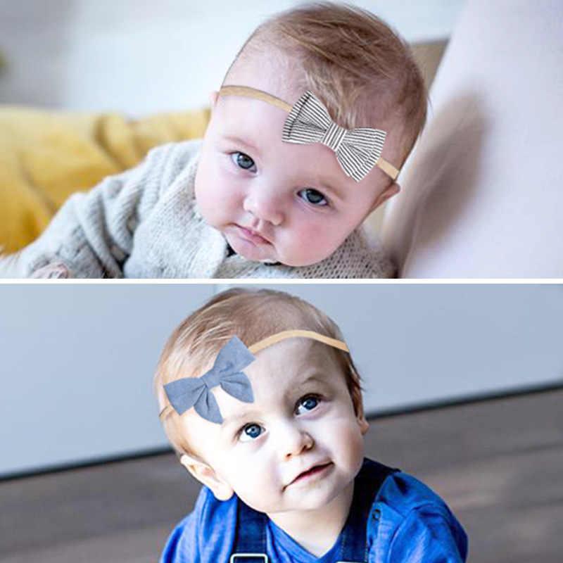 תינוקת עניבת קשר קשת סרט אלסטי הדפסה סרוג כותנה ילדים יילוד תינוקות שיער Band קיץ טורבן Bebe בנדנה