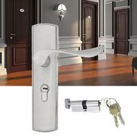 Universal Lightweight Aluminum Alloy Indoor Gate Door Handle Lock Anti-theft Home Security Hardware With 3 Keys