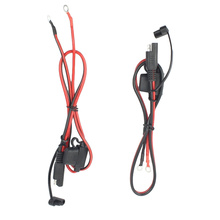 2 Pcs 12V Charger Cable for Motorcycle Battery Terminal SAE To O Ring Connecters Quick Disconnect Cable