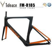 100% NEW Flat mount carbon road frame Disc brake axle 142*12mm Di2 UD carbon fiber road bicycle frameset disc brake