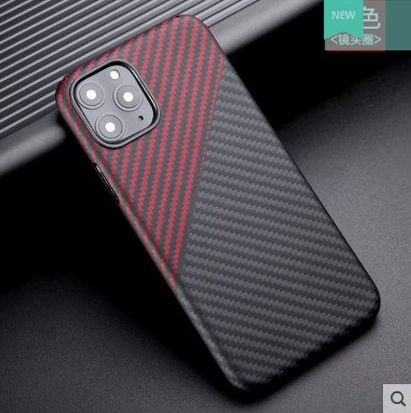 Image 3 - Thin strudy and lightweight protecive case for apple iphone 11 pro max carbon fiber back cover bumper aramid shellFitted Cases   -