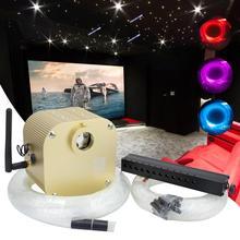 16W RGBW Twinkle Smart Bluetooth APP zestaw do wyświetlania gwiezdnego sufitu światłowodowego mieszany 335/430pcs *(0.75 + 1.0 + 1.5mm) z efektem fotografowania Meteor