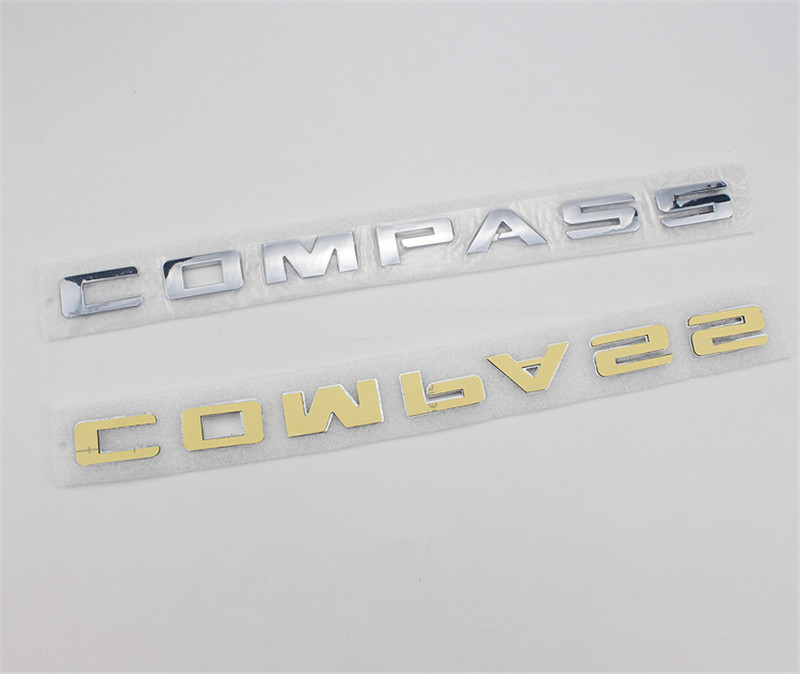 [Großhandel] 20PCS Auto-Styling ABS 34cm KOMPASS Emblem Hinten Stamm Brief Abzeichen Fender Logos Auto der körper Aufkleber Zubehör