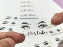 100 pieces, personalized, custom stickers, cosmetic stickers, gift box labels, logos, transparent, eyelash stickers,white paper
