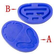 Borde de cera de goma de silicona Dental, bloque de mordida de forma larga delgada, bandeja individual, molde de moldeo de implante