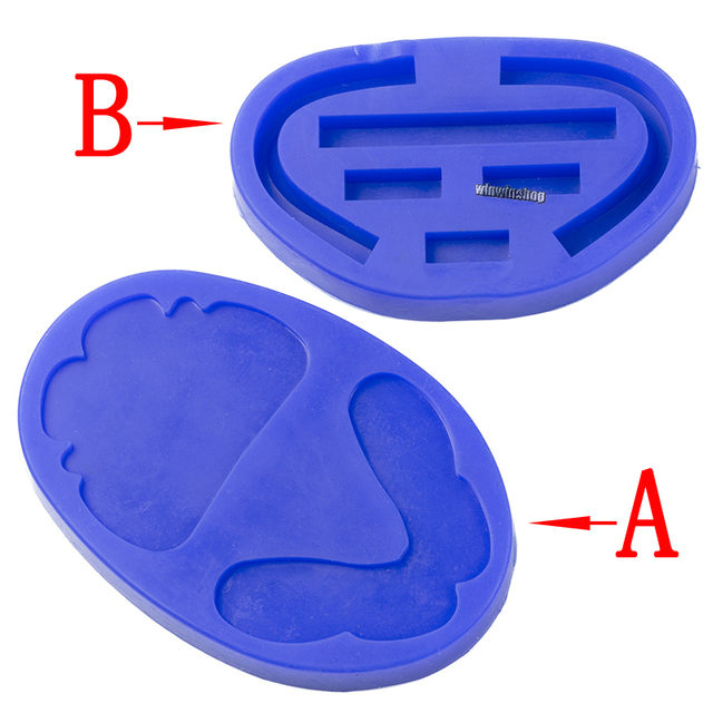 Dental silicone rubber wax rim slim long shape bite block individual tray implant molding mould