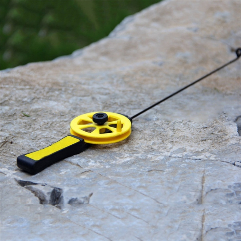 Fishing-Rod Reel-High-Resistance Plastic Winter Ice 1pcs with Portable Outdoor-Sport title=