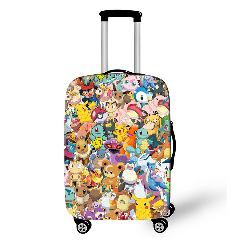 18''-32'' Pokemon Elastic Luggage Protective Cover Trolley Suitcase Dust Bag Case Cartoon Travel Accessories