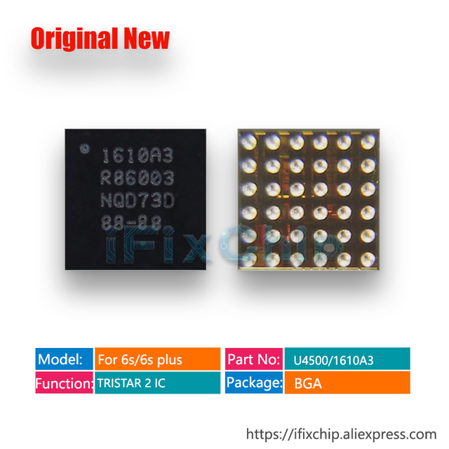 50pcs/lot 1610A3 IC for iphone 6S/6S plus/6Splus U4500 U2/USB IC USB Charger/Charging/TRISTAR 2 IC 36pins