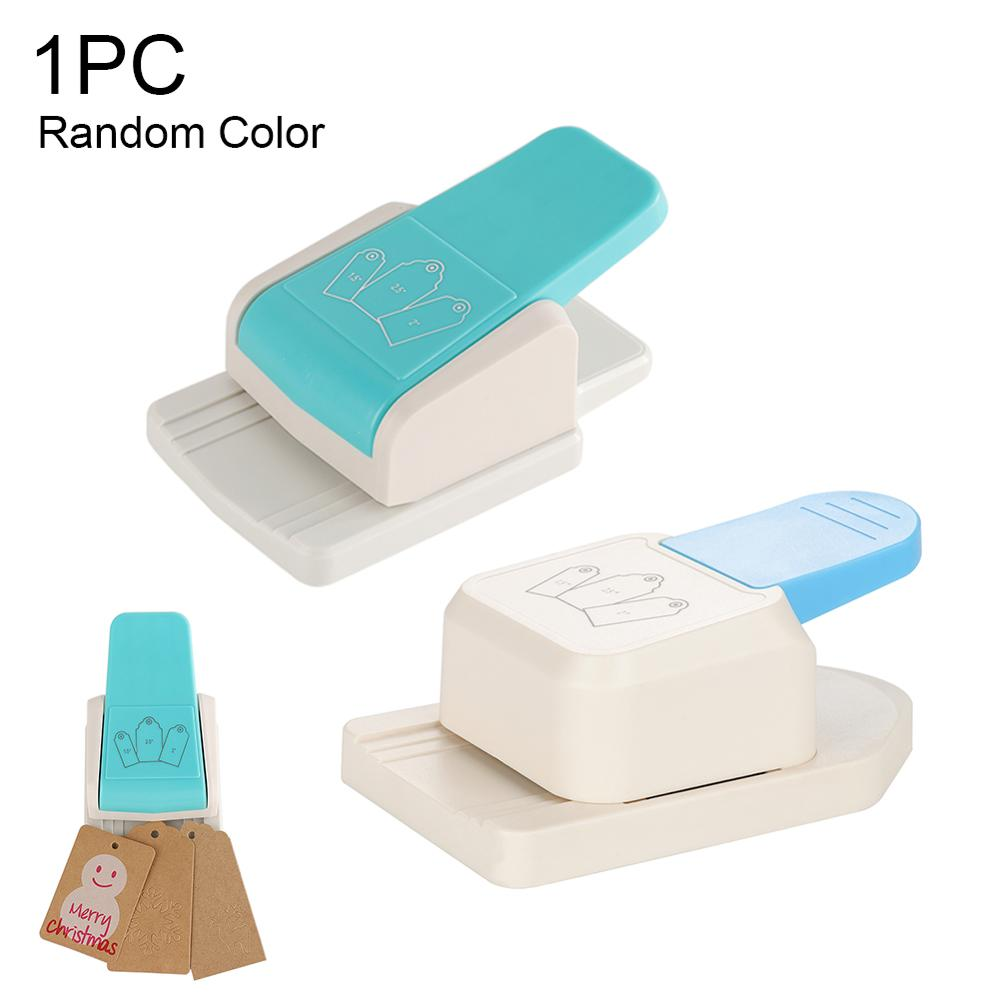 Puncher Clothing Tag Puncher Straight Gift Tag Paper Punches DIY Bookmark Manual Puncher for Scrapbooking Craft Random color