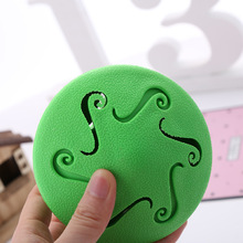 Unique Pet Leak Food Toy Rubber Top-shaped Puzzle Training Toy Dog Interactive Slow Feeder Pet Gyro Clean Teeth Playing Balls