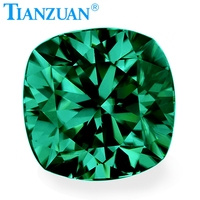 green color 5 12mm white cushion shape dia mond cut Sic material moissanites loose gem stone