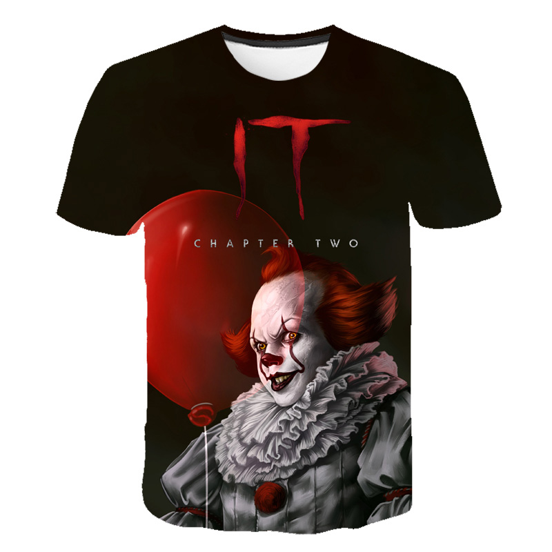 2019 Newest Thriller Movie It: Chapter Two 3D T-shirts Boys Girl Summer Personality Horror Print Casual T Shirt Tee Tops