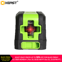 XEAST 2 Lines Laser Level Self Levelling ( 4 degrees) Red Laser Horizontal & Vertical Cross Line with Magnetic Base
