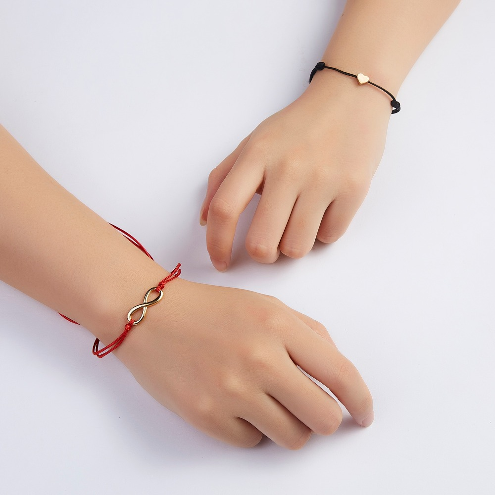 Комбинированный браслет с картой Новое красное ожерелье черный ремень любовь Смола синий глаз кулон браслет Пара друг регулируемый браслет