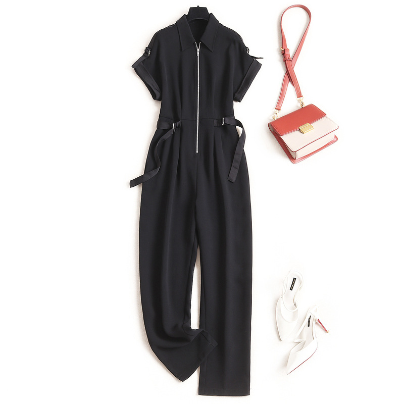Streetwear Romper Women Fashion Office Lady  Jumpsuits  Solid 2020 Summer New Fashion Nova Woman  Rompers Womens Jumpsuit 2