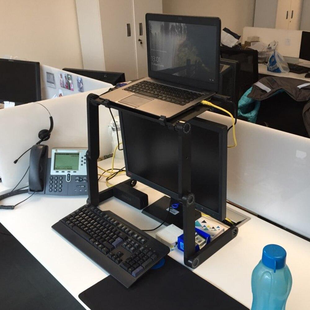 Foldable Adjustable Laptop Desk Ergonomic Portable Stand Up Portable Lapdesk Notebook Support Holder TV For Bed Heat Dissipation