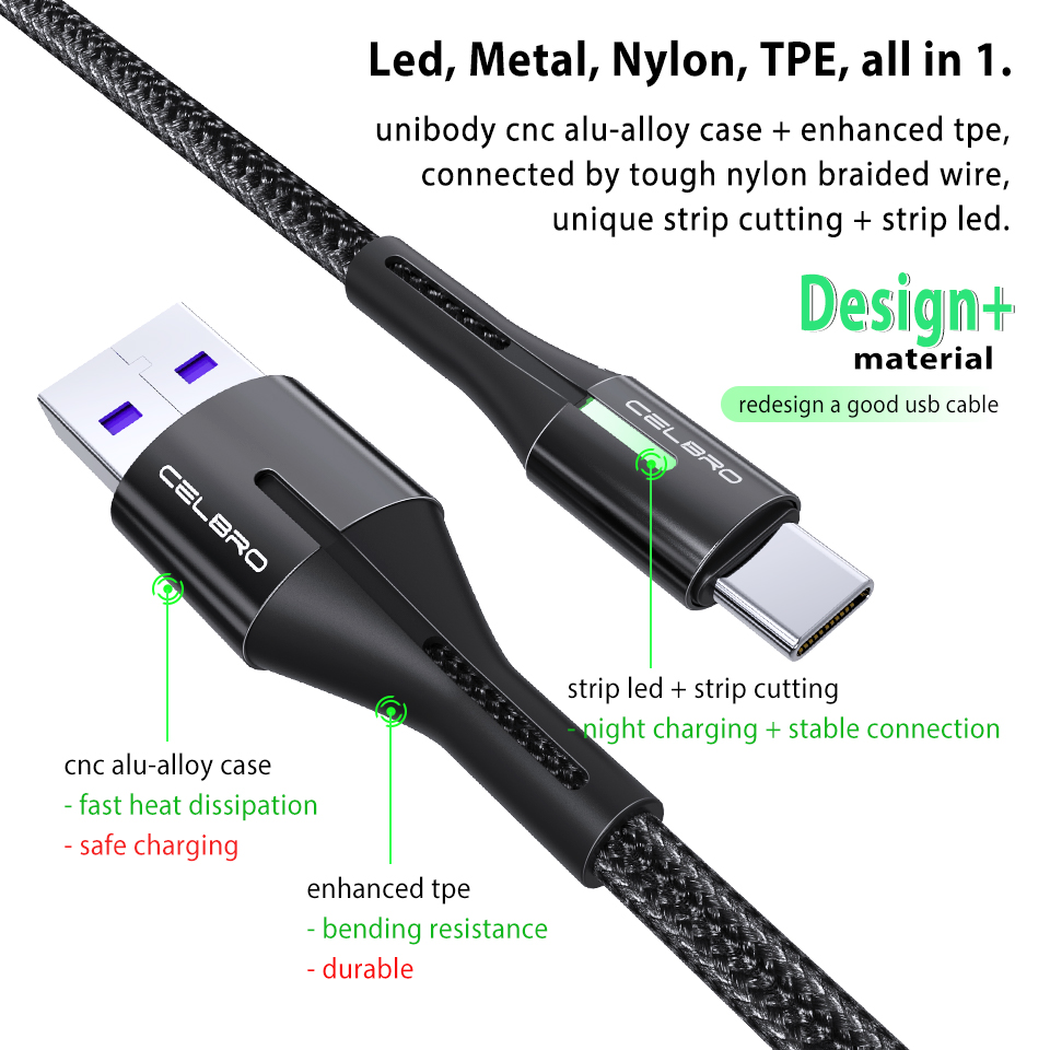 Image 5 - 50cm/1m/2m Usb Type C Cable Fast Charge 3A Nylon Braided Long Kabel Usb C Cavo Usbc QC3.0 for Samsung S20 Ultra S10 5G Xiaomi 10Mobile Phone Cables   -