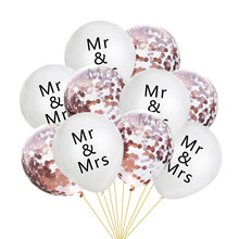 10 Pcs/lot  MR.MRS Wedding Balloon Confetti Decoration