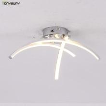シンプルなアルミ天井照明ホームリビングルームベッドルームキッチン天井ランプホームハンギング照明器具AC110V 220v