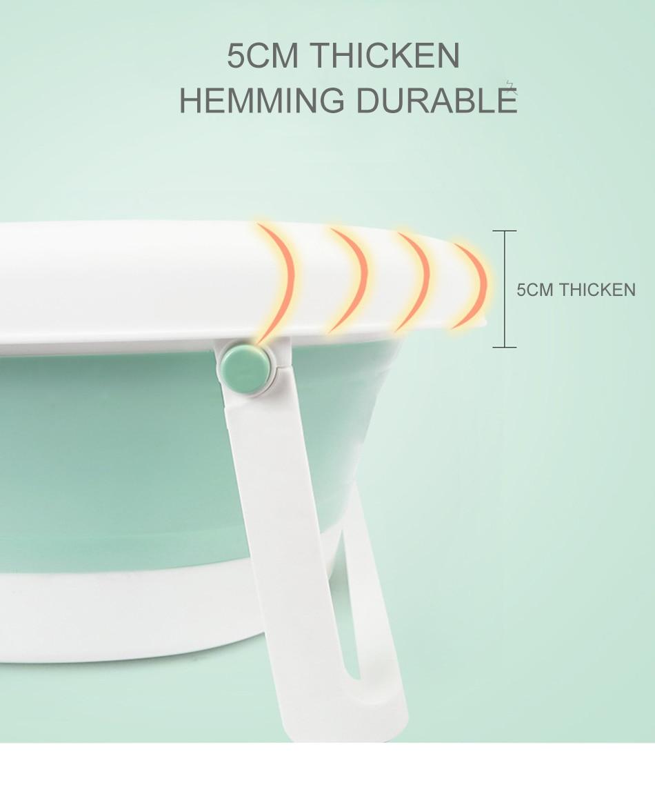 Easy Folding Baby Bath Tub With Non slip Cushion For Safe New Born Baby Bath Tub 13