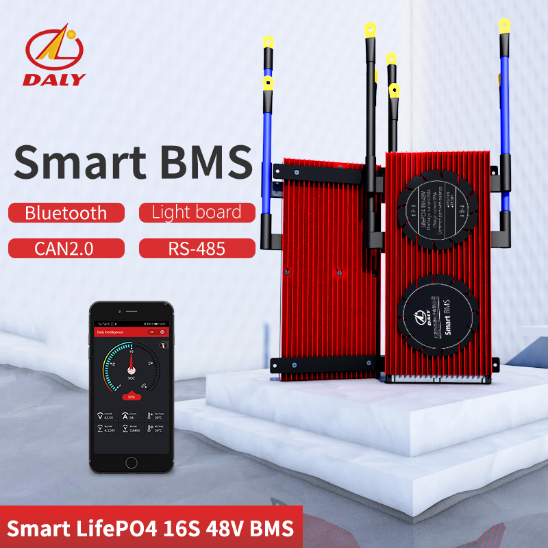 Smart BMS  16S 48V  High Current Bluetooth+485 To USB Device +CAN+NTC +UART  Togther Lion LiFePO4 LTO  Batteries2.3V/2.4V Conn
