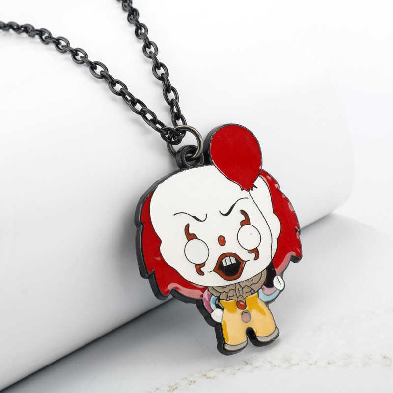 ภาพยนตร์สยองขวัญ Trinket Key CHAIN สร้อยคอ Stephen King's It Chucky SAW วันศุกร์ที่ 13th หน้ากากพวงกุญแจโลหะจี้ Keyring