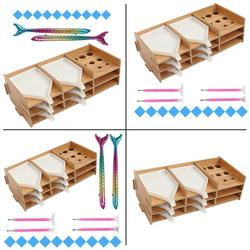Christmas holiday gift diamond painting tool storage wooden tray tray handmade K0V2 DIY storage D8W8