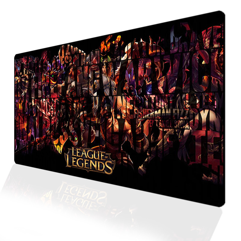 Custom 70x40cm Gaming League Of Legends Mouse Pad Locking Edge Pad Mouse Notebook Computer Mousepad Padmouse LOL Gamer Desk Mats