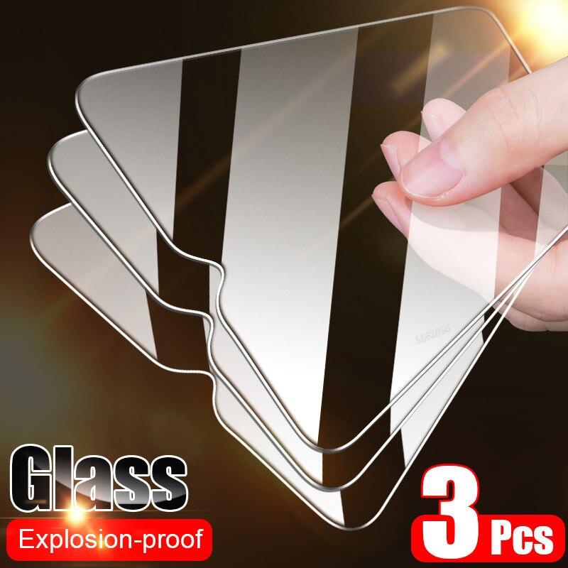 Full Cover Glass On Xiaomi Mi 10 9 Lite 9T Pro Tempered Glass For Xiaomi A3 A2 A1 8 Lite 9 SE Pocophone F1 Screen Protector Film(China)