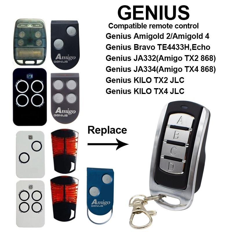 GENIUS Garage Door Remote Control 433.92MHz 868MHz Genius Amigold 2/ KILO TX2 JLC / Amigo TX2 868 Gate Control Transmitter