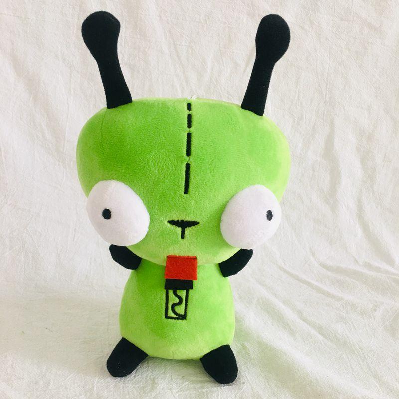 25cm  3D Bulging Eyes Green Alien Invader Zim Dog Stuffed Plush Toy