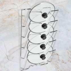 Wall/Door Mounted Kitchen Cabinet Pot & Pan Lids Storage Rack Holder