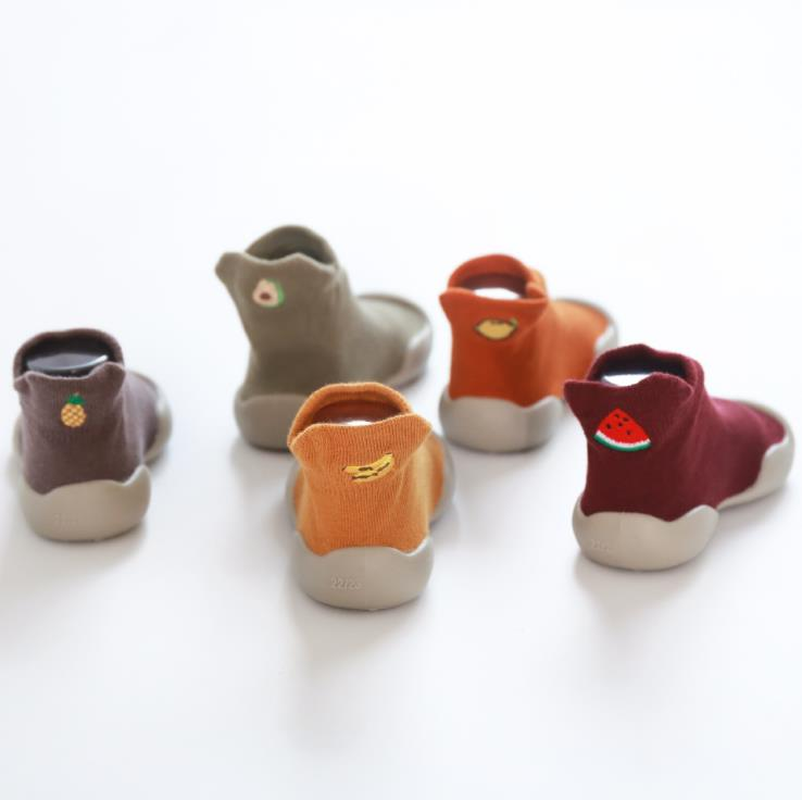New Sale Baby Toddler Shoes Baby Shoes Fuitl Shoes Sock Floor Shoes Foot Socks 0-4years 5sizes  Tz04